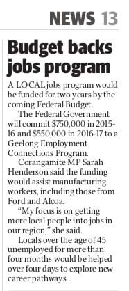 Budget backs jobs program