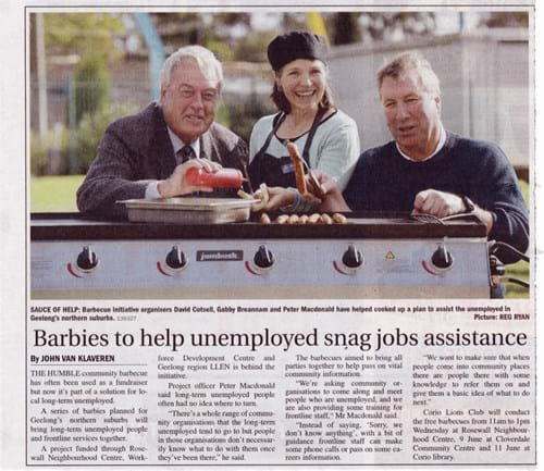 Article from Geelong Independent (22/5/15)