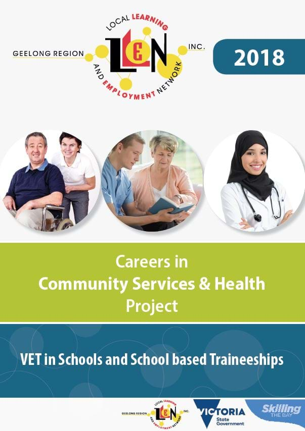 Careers in Community Services & Health Project - course comparison table